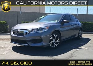 2016 Honda Accord Sedan LX Carfax 1-Owner - No AccidentsDamage Reported Air Conditioning  AC