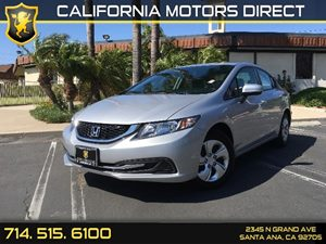 2015 Honda Civic Sedan LX Carfax 1-Owner  Alabaster Silver Metallic  We are not responsible fo