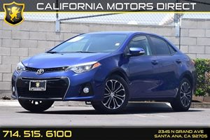 2015 Toyota Corolla S Carfax 1-Owner - No AccidentsDamage Reported 1 12V Dc Power Outlet Air Co