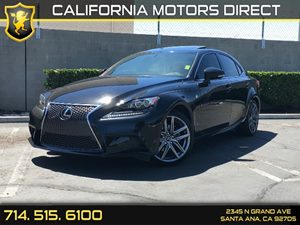 2015 Lexus IS 250  Carfax 1-Owner  Black  We are not responsible for typographical errors All