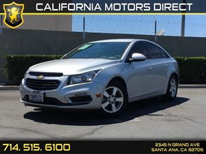 2016 Chevrolet Cruze Limited LT Carfax 1-Owner - No AccidentsDamage Reported  Champagne Silver