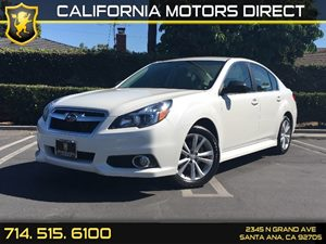 2014 Subaru Legacy 25i Carfax 1-Owner - No AccidentsDamage Reported  Satin White Pearl  We a