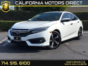 2016 Honda Civic Sedan Touring Carfax 1-Owner  White Orchid Pearl  We are not responsible for