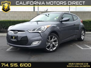 2017 Hyundai Veloster  Carfax 1-Owner - No AccidentsDamage Reported  Triathlon Gray Metallic