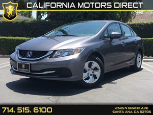 2014 Honda Civic Sedan LX Carfax 1-Owner  Gray  We are not responsible for typographical error