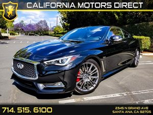 2017 INFINITI Q60 Red Sport 400 Carfax 1-Owner - No AccidentsDamage Reported  Black Obsidian