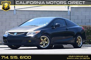 2012 Honda Civic Cpe LX Carfax Report - No AccidentsDamage Reported  Crystal Black Pearl  We