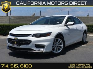 2016 Chevrolet Malibu LT Carfax 1-Owner - No AccidentsDamage Reported  Summit White  We are n