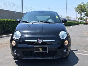 2014 FIAT 500 Sport Carfax 1-Owner - No AccidentsDamage Reported  Nero Puro Straight Black