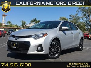 2014 Toyota Corolla S Carfax 1-Owner  Classic Silver Metallic  We are not responsible for typo