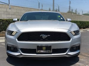2015 Ford Mustang EcoBoost Carfax 1-Owner - No AccidentsDamage Reported  Ingot Silver Metallic