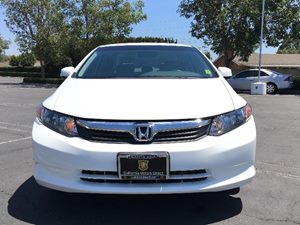 2012 Honda Civic Sdn LX Carfax 1-Owner  Taffeta White  We are not responsible for typographica