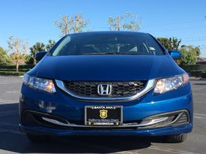 2014 Honda Civic Sedan LX Carfax 1-Owner  Dyno Blue Pearl  We are not responsible for typograp