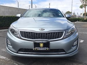 2015 Kia Optima Hybrid Base Carfax Report - No AccidentsDamage Reported  Aluminum Silver Metal