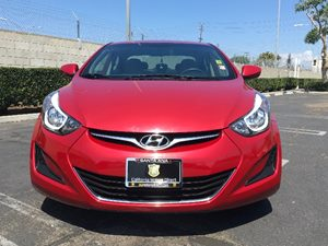 2015 Hyundai Elantra SE Carfax 1-Owner  Geranium Red  We are not responsible for typographical
