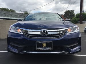 2016 Honda Accord Sedan LX Carfax Report  Obsidian Blue Pearl  We are not responsible for typo