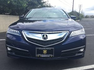 2015 Acura TLX V6 wAdvance Carfax 1-Owner - No AccidentsDamage Reported  Fathom Blue Pearl