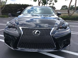 2015 Lexus IS 250 F-Sport Carfax 1-Owner  Black  We are not responsible for typographical erro
