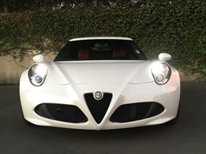 2016 Alfa Romeo 4C Base Carfax 1-Owner  White  We are not responsible for typographical errors