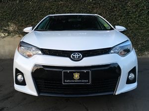 2015 Toyota Corolla S Plus Carfax 1-Owner  Super White  We are not responsible for typographic