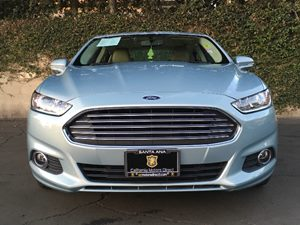 2014 Ford Fusion Energi SE Carfax 1-Owner - No AccidentsDamage Reported  Deep Impact Blue Meta