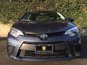2015 Toyota Corolla L Carfax 1-Owner - No AccidentsDamage Reported  Gray  We are not responsi