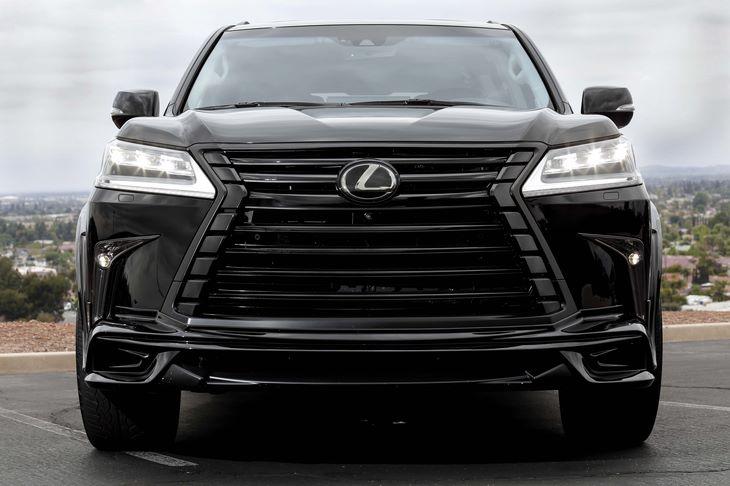 2017 Lexus LX 570 WWALD BODY KIT Cool Box Dark Brown Walnut  Leather Heated Steering Wheel Dvd