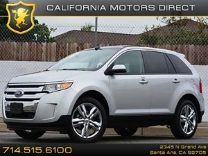 2013 Ford Edge SEL Carfax 1-Owner 20 Chrome-Clad Aluminum Wheels Panoramic Vista Roof Air Con