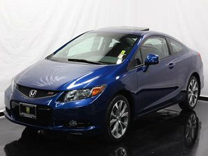 2012 Honda Civic Cpe Si Carfax 1-Owner  Dyno Blue Pearl  All advertised prices exclude governm