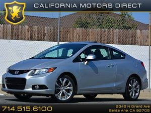 2012 Honda Civic Cpe Si Carfax 1-Owner  Alabaster Silver Metallic  All advertised prices exclu