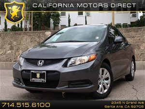 2012 Honda Civic Cpe LX Carfax 1-Owner Air Conditioning  AC Audio  AmFm Stereo Audio  Auxi