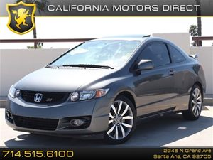 2009 Honda Civic Cpe Si Carfax Report - No Accidents  Damage Reported to CARFAX  Gray  All ad