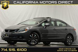 2013 Honda Civic Sdn EX-L Carfax 1-Owner 4-Wheel Anti-Lock Braking System Abs WElectronic Brak