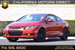 2013 Honda Civic Cpe Si Carfax 1-Owner Aluminum Shift Knob WLeather Audio  Auxiliary Audio Inp