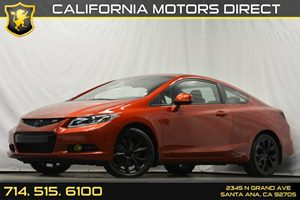 2013 Honda Civic Cpe Si Carfax 1-Owner Aluminum Shift Knob WLeather Audio  Auxiliary Audio Inp