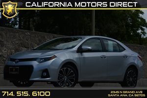 2014 Toyota Corolla S Carfax 1-Owner Analog Display Audio  Auxiliary Audio Input Convenience