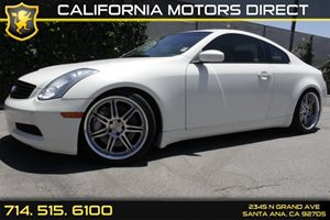 2007 Infiniti G35 Coupe  Carfax Report Center Console WAuxiliary Pwr Outlet Convenience  Cruis