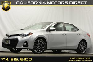 2014 Toyota Corolla S Plus Carfax 1-Owner Analog Display Audio  Auxiliary Audio Input Convenie