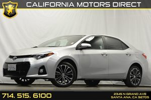 2015 Toyota Corolla S Plus Carfax 1-Owner Air Conditioning  AC Analog Display Audio  Auxilia