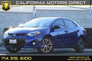 2015 Toyota Corolla S Plus Carfax 1-Owner Audio  Auxiliary Audio Input Convenience  Back-Up Ca