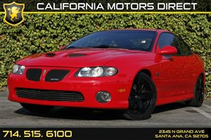 2006 Pontiac GTO  Carfax Report Transmission 6-Speed Manual Audio  AmFm Stereo Audio  Premi