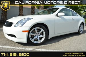 2007 Infiniti G35 Coupe  Carfax Report Convenience  Engine Immobilizer Convenience  Intermitte