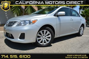 2013 Toyota Corolla LE Carfax Report  Classic Silver Metallic See our entire inventory at www