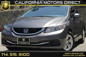 2013 Honda Civic Sdn LX Carfax Report - No AccidentsDamage Reported Convenience  Back-Up Camera