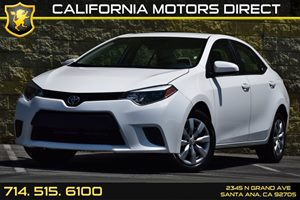 2015 Toyota Corolla LE Carfax Report Audio  Auxiliary Audio Input Convenience  Back-Up Camera