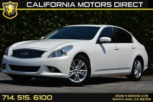 2012 Infiniti G37 Sedan Journey Carfax 1-Owner Air Conditioning  AC Audio  Auxiliary Audio In