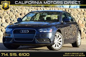 2014 Audi A4 Premium Carfax 1-Owner Audio  Auxiliary Audio Input Convenience  Automatic Headli