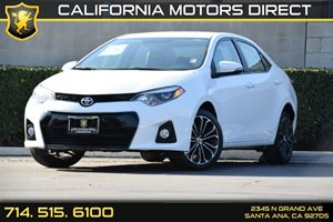 2014 Toyota Corolla S Carfax 1-Owner - No AccidentsDamage Reported Convenience  Back-Up Camera