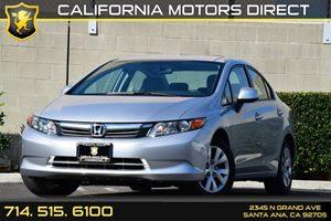 2012 Honda Civic Sdn LX Carfax 1-Owner Audio  Auxiliary Audio Input Convenience  Cruise Contro