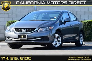 2013 Honda Civic Sdn LX Carfax 1-Owner Audio  Auxiliary Audio Input Convenience  Back-Up Camer